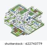 isometric 3d metropolis city...   Shutterstock .eps vector #622743779