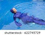 attractive woman in a muslim... | Shutterstock . vector #622745729