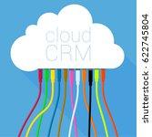 cloud crm solution  customer...   Shutterstock .eps vector #622745804