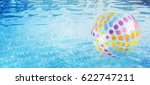 ball in the swimming pool.... | Shutterstock . vector #622747211