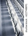 plastic rows of seats on a... | Shutterstock . vector #622748891