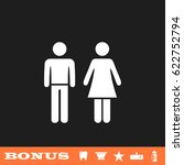 man and woman icon flat. simple ...   Shutterstock . vector #622752794