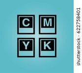 cmyk letters stationery icon