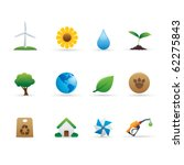 03 Ecology Icons Set - stock vector