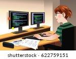 a vector illustration of female ... | Shutterstock .eps vector #622759151