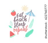 summer design sticker with... | Shutterstock .eps vector #622760777