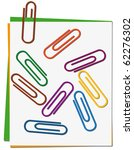 set of colored paper clips.... | Shutterstock .eps vector #62276302