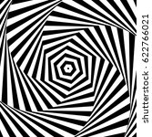 black and white optical... | Shutterstock .eps vector #622766021