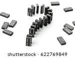 domino game stones forming... | Shutterstock . vector #622769849