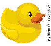 rubber ducky for bath on white... | Shutterstock .eps vector #622770707