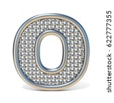 outlined metal wire mesh font... | Shutterstock . vector #622777355