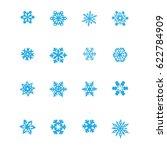 snowflake vector icon | Shutterstock .eps vector #622784909