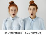Two Surprised Red Haired Femal...
