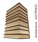 stack of old books with... | Shutterstock . vector #622789631
