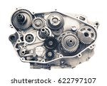 engine cross section with gear... | Shutterstock . vector #622797107