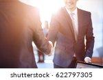 two confident business man... | Shutterstock . vector #622797305