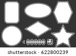 set of lace frames doily and... | Shutterstock .eps vector #622800239