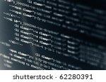 Computer Code HTML - stock photo
