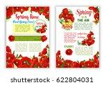 spring flowers vector posters... | Shutterstock .eps vector #622804031