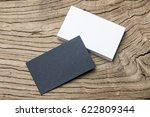 business card on wood | Shutterstock . vector #622809344