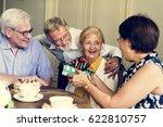 senior life celebration... | Shutterstock . vector #622810757
