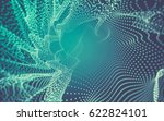 abstract polygonal space low... | Shutterstock . vector #622824101