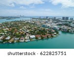Aerial image of the Bay Harbor Islands Miami Beach FL, USA