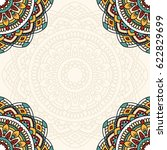 floral oriental pattern with... | Shutterstock . vector #622829699