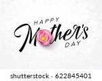 happy mother's day calligraphy... | Shutterstock .eps vector #622845401
