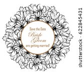 vintage delicate invitation... | Shutterstock . vector #622845431