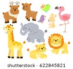 animals in the forest | Shutterstock .eps vector #622845821