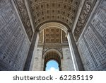wide angle shot of parisian arc ... | Shutterstock . vector #62285119