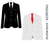 men's jacket. ceremonial men's... | Shutterstock .eps vector #622853561