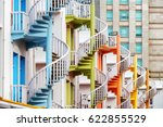 colorful exterior spiral...   Shutterstock . vector #622855529