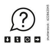 question icon vector... | Shutterstock .eps vector #622862045