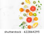 fruit background. colorful... | Shutterstock . vector #622864295