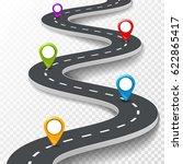 vector 3d road infographic...   Shutterstock .eps vector #622865417