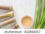 close up sugar cane on rustic... | Shutterstock . vector #622866317