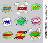 comic sound speech effect... | Shutterstock .eps vector #622869764