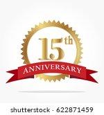 15th golden anniversary logo... | Shutterstock .eps vector #622871459