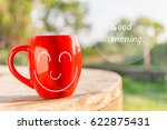 red coffee cup empty front... | Shutterstock . vector #622875431