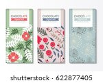 chocolate bar packaging set.... | Shutterstock .eps vector #622877405