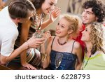 young people are chatting at an ... | Shutterstock . vector #6228793