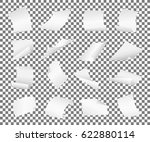 blank paper sheets falling down.... | Shutterstock .eps vector #622880114
