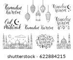 set vector handwritten...   Shutterstock .eps vector #622884215