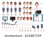 female call center character... | Shutterstock .eps vector #622887239