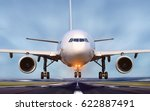 airplane taking off from... | Shutterstock . vector #622887491