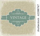 beige vintage greetings. | Shutterstock .eps vector #62288767