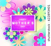mother s day greeting card with ... | Shutterstock .eps vector #622893401