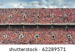 crowd of thousands dressed in... | Shutterstock . vector #62289571